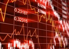 Stock market red
