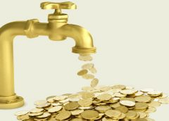 Running tap with money